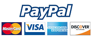 Visa, master cards and Paypal accepted